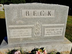 Elizabeth P <i>Danks</i> Beck