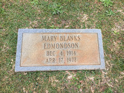 Mary <i>Blanks</i> Edmondson