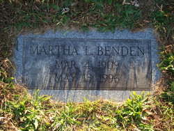 Martha Lois <i>Wissinger</i> Benden