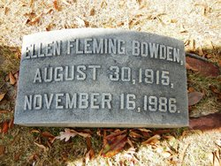Ellen Marion <i>Fleming</i> Bowden