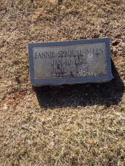 Fannie <i>Sprouse</i> Allen