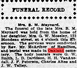 Mary A Maynard
