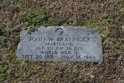 Sgt John W Brannock
