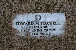 Sgt Edward M Foxwell