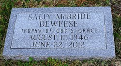 Sally <i>McBride</i> Deweese