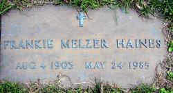 Frankie <i>Melzer</i> Haines