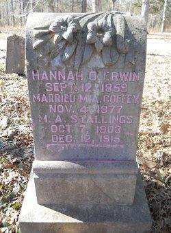 Hannah O. <i>Erwin</i> Coffey