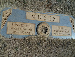 Minnie Lee <i>Verett</i> Moses