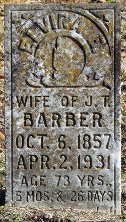 Elvira Elizabeth Sis <i>Tucker</i> Barber