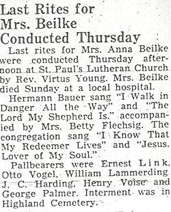 Anna Emma Ida <i>Pagel</i> Beilke