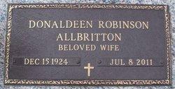Donaldeen <i>Robinson</i> Allbritton