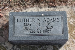 Luther N Adams