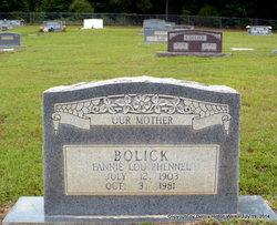 Fannie Lou <i>Boley</i> Bolick