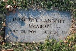 Dorothy E. <i>Langfitt</i> McAboy