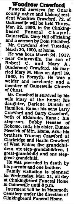 F Woodrow Crawford