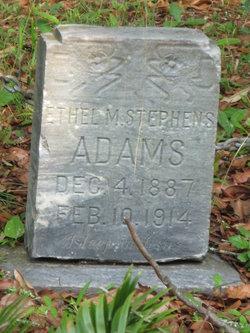 Ethel M <i>Stephens</i> Adams