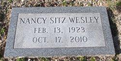 Nancy <i>Sitz</i> Wesley