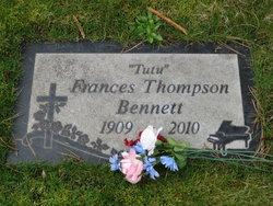 Frances T <i>Thompson</i> Bennett