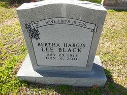 Bertha <i>Hargis</i> Black