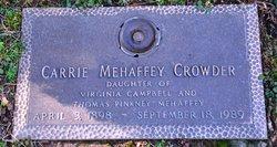 Carrie <i>Mehaffey</i> Crowder