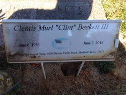 Clentis Murl Clint Beckett, III