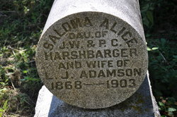 Saloma Alice <i>Harshbarger</i> Adamson