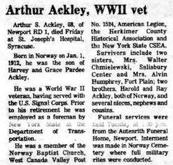 Arthur Stephen Ackley