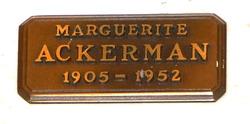 Marguerite Ackerman