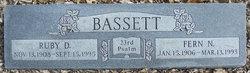 Ruby Doreen <i>Scott</i> Bassett