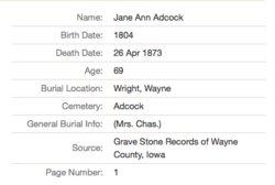 Jane Ann <i>Faulkner</i> Adcock