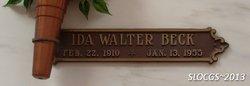 Ida <i>Walter</i> Beck