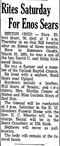 Enos Elbert Sears