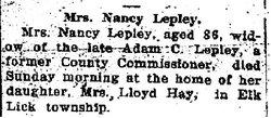 Nancy <i>Hershberger</i> Lepley