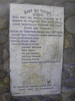 Waihi Redoubt Cemetery