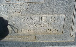 Fannie G. <i>Savage</i> Gosa