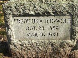 Frederika D DeWolf