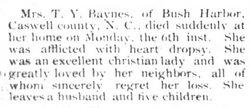 Elizabeth B. <i>Willis</i> Baynes
