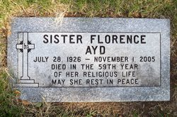 Sr Florence Ayd
