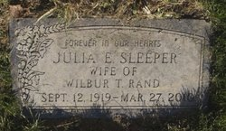 Julia E <i>Sleeper</i> Rand