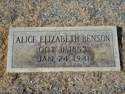Alice Elizabeth <i>Adams</i> Benson