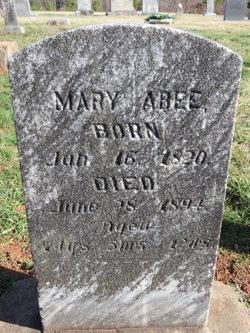 Mary <i>Vanhorn</i> Abee