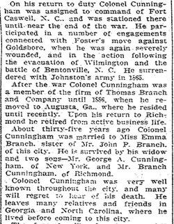 Maj George Alford Cunningham