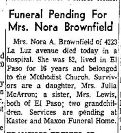 Nora Alzada <i>Coffelt</i> Brownfield