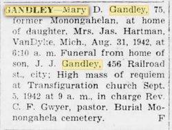 Mary A <i>Dishardt</i> Gandley