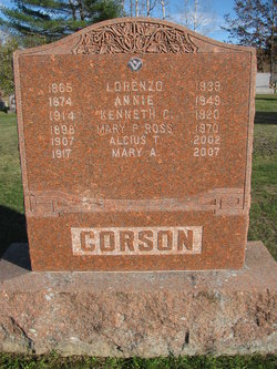 Joanna Annie <i>Wescott</i> Corson