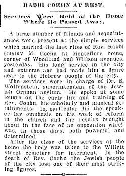 Rabbi Gustave M Cohen