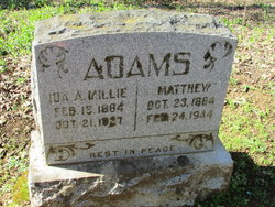 Ida A. Mellie <i>McLaughlin</i> Adams