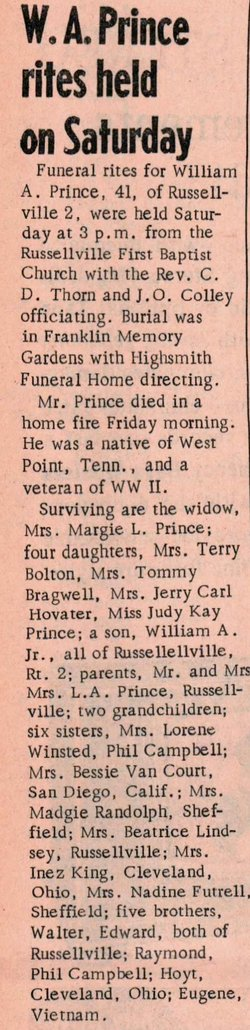 William A Prince