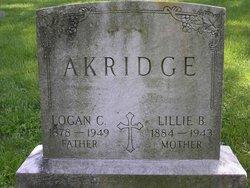 Lillie Belle <i>Simms</i> Akridge