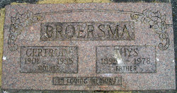 Gertrude <i>Wichers</i> Broersma
